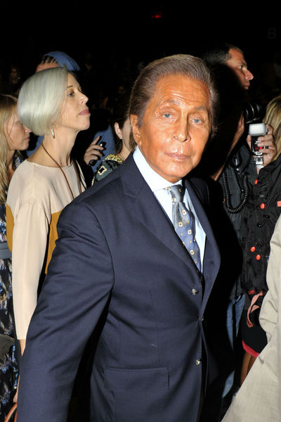 Valentino at the Diane von Furstenberg show at the Lincoln Center Tents, Sunday, September 9, 2012.