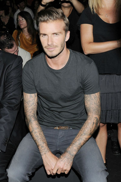 David Beckham at the Y-3 show at the the St. John's Center, Sunday, September 9, 2012.