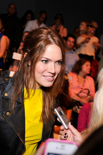 Mandy Moore at the Lela Rose show at the Lincoln Center Tents, Sunday, September 9, 2012.