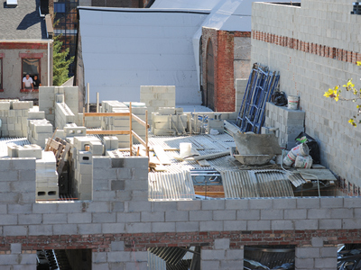 A construction worker was killed in a building collapse in Fort Greene on September 10, 2012.