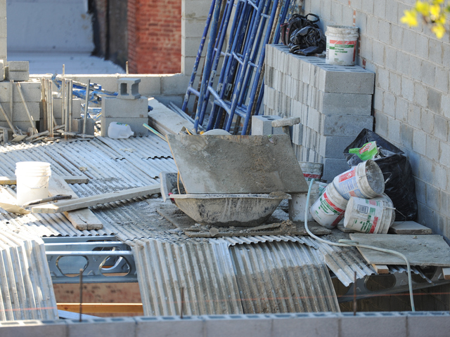 The scene of an interior collapse at a construction site on Carlton Avenue in Brooklyn on Monday September 10th, 2012.