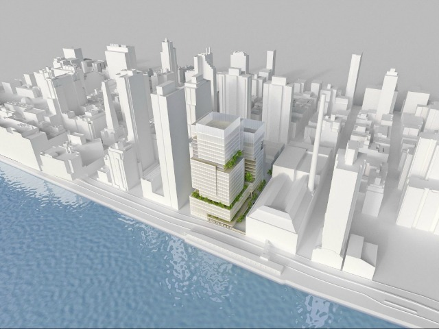 A rendering of the new complex, which is being planned for the Upper East Side.
