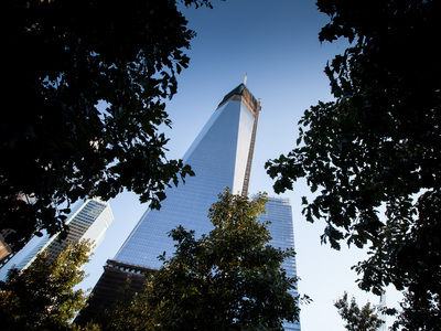One World Trade Center on the 11th anniversary of 9/11.