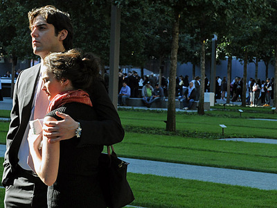 Family members of 9/11 victims gathered at the 9/11 Memorial Sept. 11, 2012.