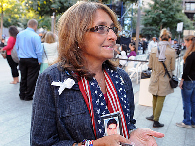 Jane Pollicino, 68, a Nassau County resident whose husband Steve Pollicino, 48, worked for Cantor Fitzgerald and was killed on 9/11, said she felt more relaxed on the 11th anniversary, compared to the intensely anticipated 10th anniversary last year.