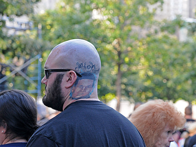 Paul Talty Jr., 23, whose father was a 41-year-old police officer killed on 9/11, has a tattoo of his dad.