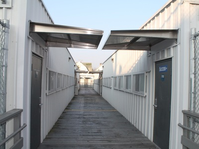 The trailers at Richmond Hill High School.