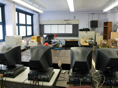 A room in Schomburg Satellite Academy's new floor, which will be split between a computer lab and teacher prep space.