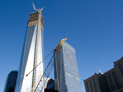 The Freedom Tower stands at Ground Zero on the 11th anniversary of Sept. 11, 2001.