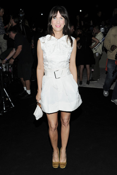 Kristen Wiig at the at the Marc Jacob runway show on Monday, Sept. 10, 2012.