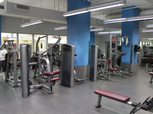 The new McBurney YMCA strength training center.