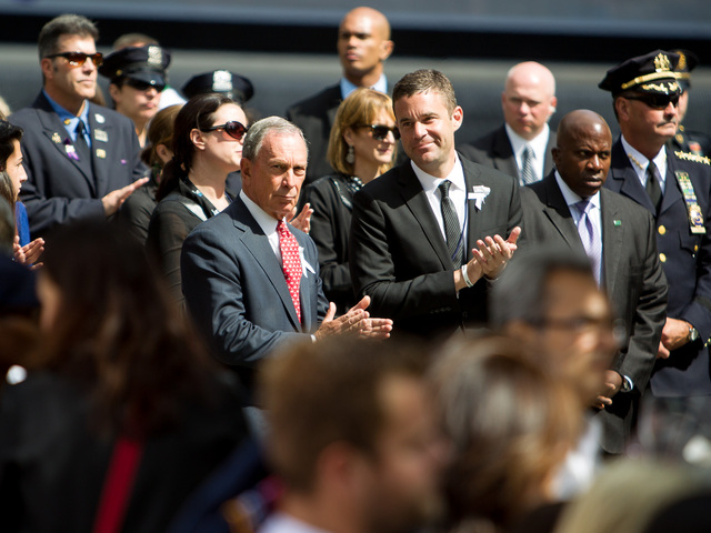 Mayor Bloomberg attends the 11th Anniversary of the World Trade Center terrorist attacks on September 11th, 2012.