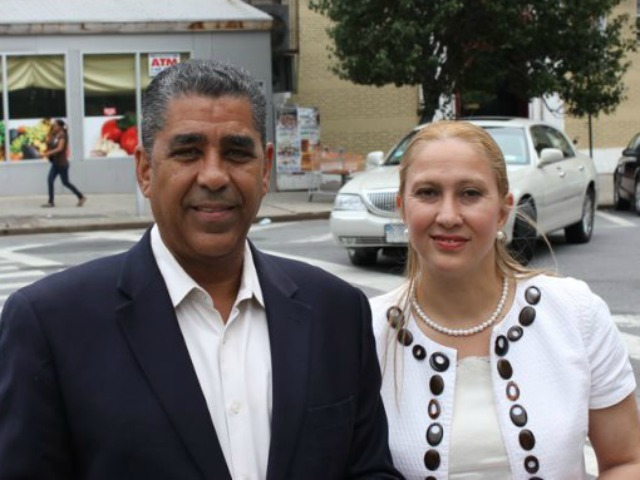 State Assembly candidate Gabriela Rosa poses with State Sen. Adriano Espaillat, who has endorsed her candidacy.