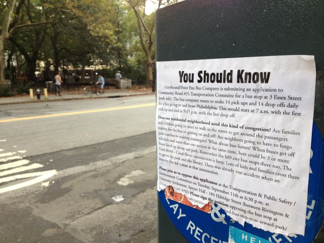So far more than 1,200 people have sign a petition against Greyhound having a curbside bus stop on Essex Street.