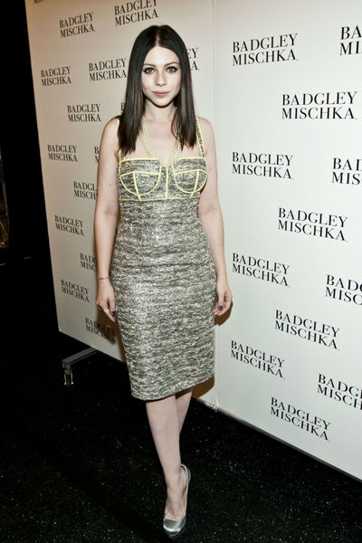 Michelle Tractenberg at the Badgley Mischka show at the Lincoln Center Tents, Tuesday, September 11, 2012.