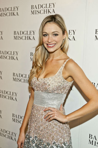 Katrina Bowden at the Badgley Mischka show at the Lincoln Center Tents, Tuesday, September 11, 2012.