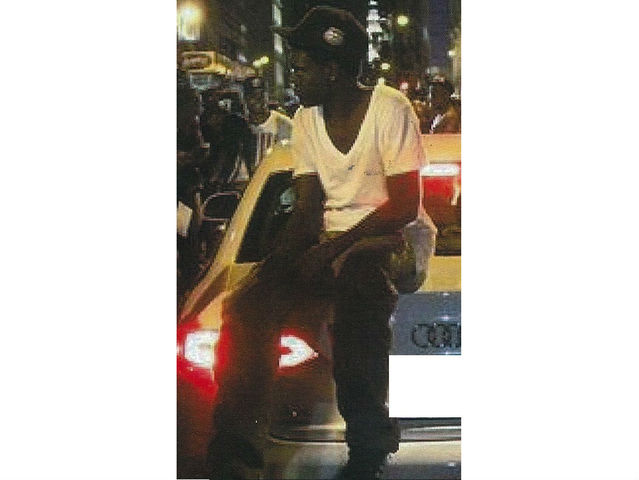 <p>Police are searching for this man, wanted for jumping on a car during Fashion&#39;s Night Out in SoHo on Thursday, Sept. 6, and smashing its windshield.</p>