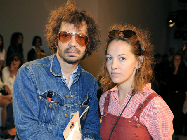Oliver Zahm and Jennifer Eymere at the Ralph Lauren Collection Spring 2012 Fashion Show at Skylight Studio in New York City on Sept. 15, 2011. Eymere was sued on Sept. 11, 2012, over an incident at a Zac Posen fashion show.