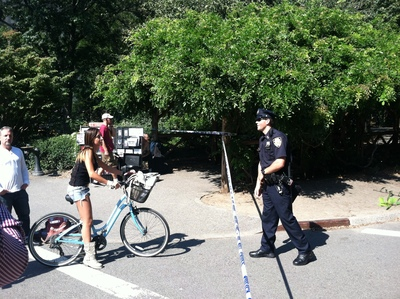 Police roped off Strawberry Fields after a sexual assault Sept. 12, 2012.