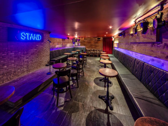 The Stand comedy club, which is now open in Gramercy, seats between 75 and 85 people.