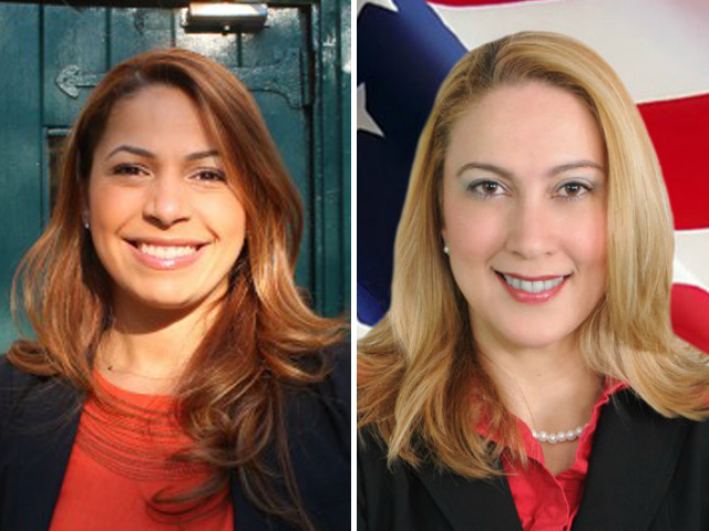 Mayra Linares, left, and Gabriela Rosa are vying for Guillermo Linares's seat in the Assembly.