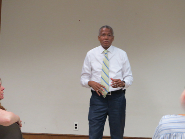 At a heated public meeting on Sept. 12, Council Member Robert Jackson listened to concerns about Dyckman quality of life.
