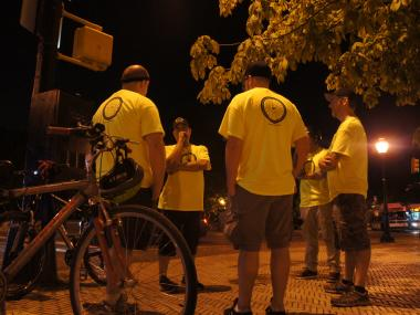 The volunteer Brooklyn Bike Patrol celebrates its anniversary this Friday by taking calls all night.