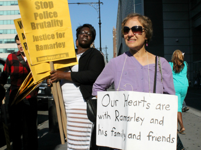 Ramarley Graham supporters.