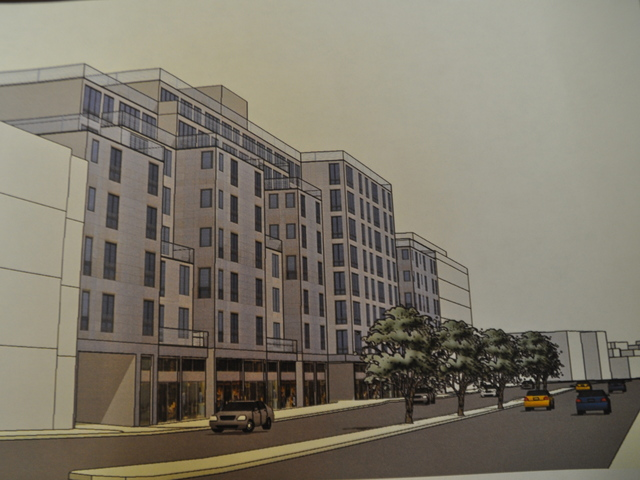 The block on McGuinness Blvd. is slated to become an eight-story mixed use development.