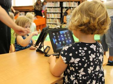 Parents say electronic gadgets like iPads and computers are distracting their children from books.