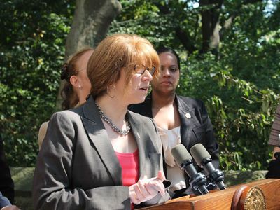 Assemblywoman Linda Rosenthal expressed her outrage at the