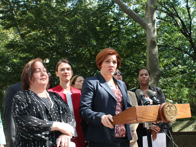 City Council Speaker Christine Quinn assured New Yorkers Central Park is safe.