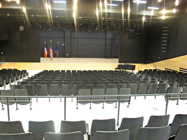The auditorium at the High School of Art and Design. The school shares this space with P.S. 59, an elementary school located on site.