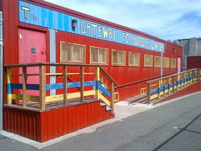 The trailers at P.S. 32 in Carroll Gardens.