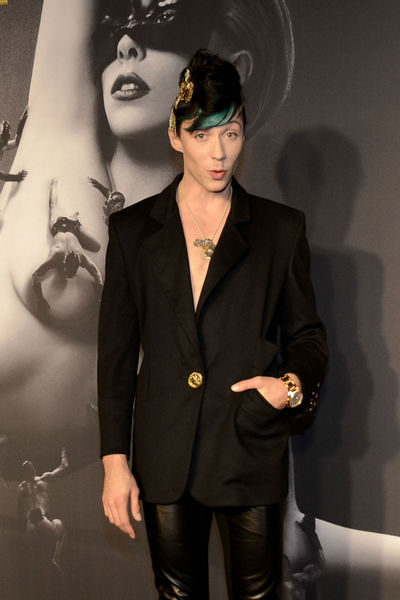 Johnny Weir at the launch of Lady Gaga FAME at the Solomon R. Guggenheim museum, Thursday, September 13, 2012.