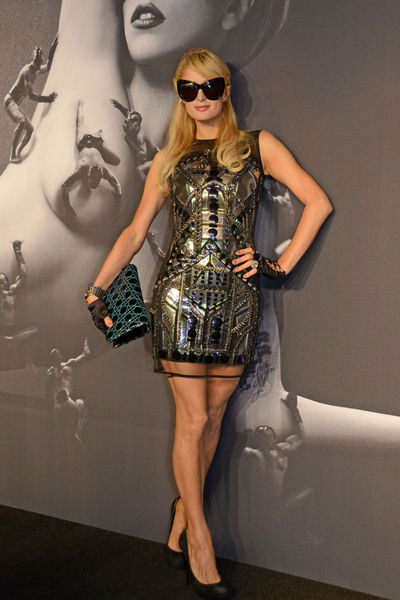 Paris Hilton at the launch of Lady Gaga FAME at the Solomon R. Guggenheim museum, Thursday, September 13, 2012.