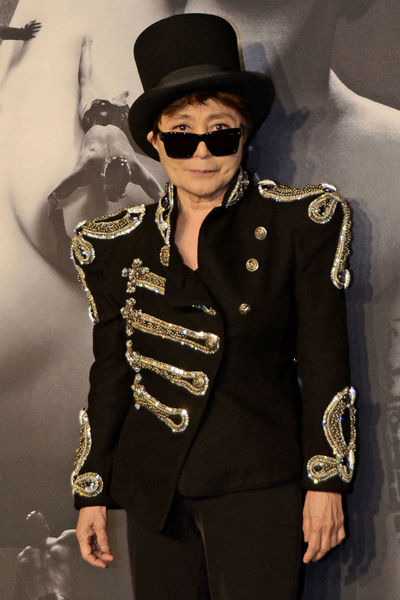 Yoko Ono at the launch of Lady Gaga FAME at the Solomon R. Guggenheim museum, Thursday, September 13, 2012.
