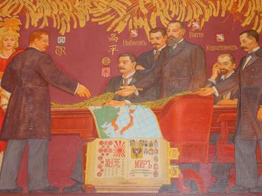 The museum unveiled newly renovated 34-foot murals in its hall honoring Theodore Roosevelt.