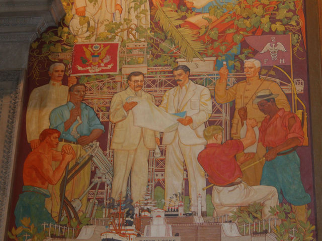 The murals were completed by William Andrew Mackay in 1935.