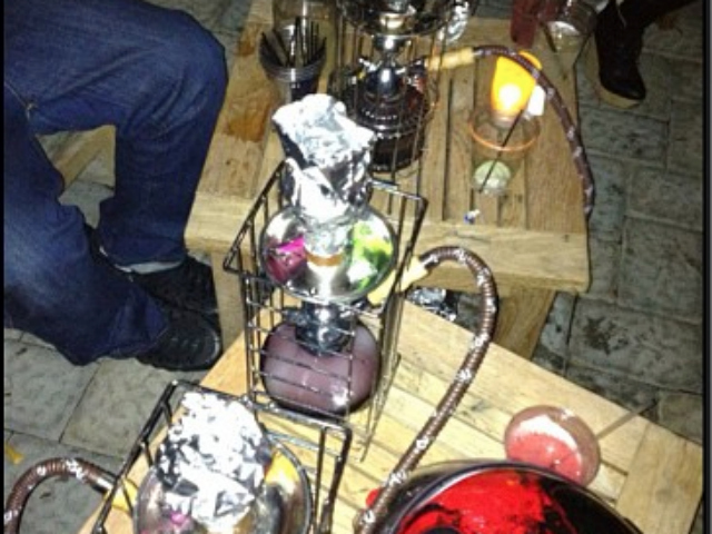 Hookah table service is offered throughout the week as requested, a reporter learned while at La Marina in September 2012.