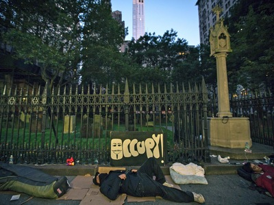 Protesters marked the first anniversary of the Occupy Wall Street movement on Sept. 17, 2012.