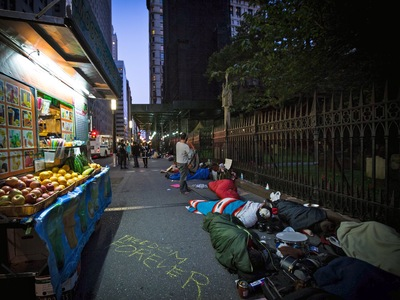 Protesters got an early start for the first anniversary of the Occupy Wall Street movement on Sept. 17, 2012.