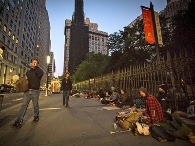 The first anniversary of the Occupy Wall Street movement on Sept. 17, 2012.