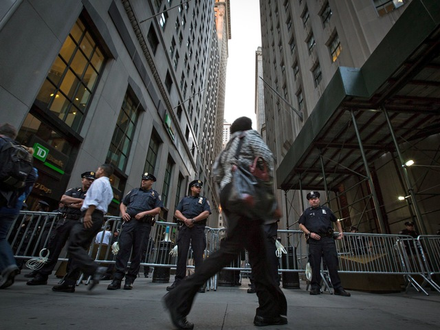 The NYPD prepares for protests on the anniversary of the Occupy Wall Street anniversary.