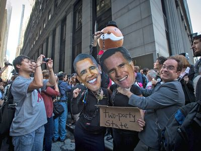 Protesters mark the anniversary of the Occupy Wall Street movement on Sept. 17, 2012.