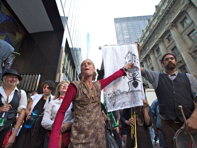 Demonstrators on Sept. 17, 2012, the first anniversary of the Occupy Wall Street movement.