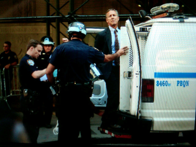 An unidentified man was arrested during the one-year-anniversary of Occupy Wall Street on Sept. 17, 2012.