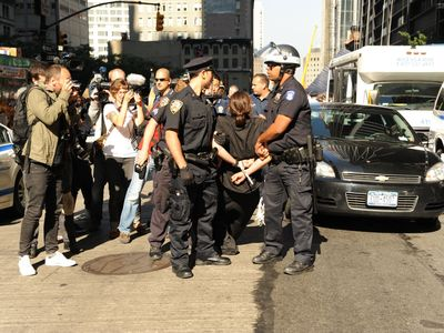 More than 100 protesters have been arrested at the Occupy Wall Street protest on Sept. 17, 2012.