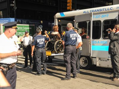 At least four people in wheelchairs were arrested on Sept. 17, 2012, at the demonstration to mark the anniversary of the Occupy Wall Street movement.