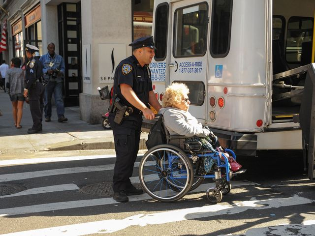 The NYPD arrested at least four wheelchair-bound protesters on Sept. 17, 2012.